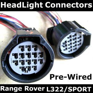 Range Rover L322 2006 on Headlight Connectors PAIR Preview